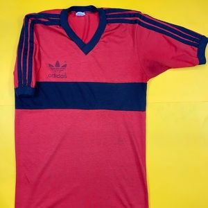 Adidas Vintage T Shirt Mens Medium 80s 90s USA Red